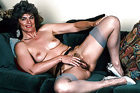 Horny hairy stocking grannies