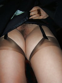 mature hairy upskirt whith stockings
