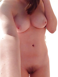 Teen showing muffs in selfie or flashing