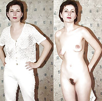 Clothed and nude 105- Hairy Women