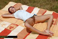 Bottomless and Hairy Sunbathing