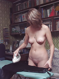 Nudist, Hairy, Outdoors, Flip Flops